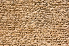 Wall made of small stones Royalty Free Stock Photos