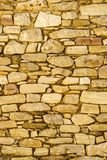 Wall made of stone bricks. Royalty Free Stock Photography