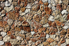 Wall made of stones Stock Photography
