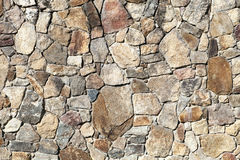 Wall Made of Uneven Stones Royalty Free Stock Photos