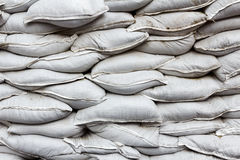 Wall made of white bags Royalty Free Stock Images