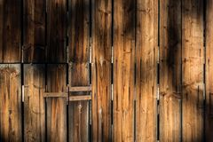 Wall made of wood planks Stock Photos