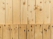 Wall made of wood Royalty Free Stock Photos