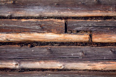 The wall made of wooden logs Stock Photography