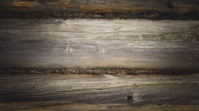 The wall made of wooden logs. Royalty Free Stock Photography
