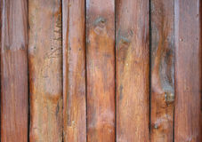 Wall made of wooden planks Stock Photography