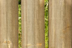 Wall maden of wooden planks Stock Images