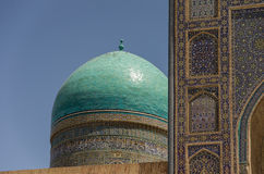 Wall of madrasahs in Samarqand. Traditional ornament in the wall of madrasahs in Samarqand Royalty Free Stock Images