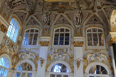Wall of main staircase of the Winter Palace Stock Photo