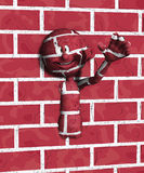 Wall Man stock photos