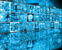 Wall. Many abstract images on the theme of computers, Internet and high technology Royalty Free Stock Image