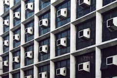 Wall with many air-conditioners. Stock Image