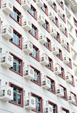 Wall with many air-conditioners Stock Photography