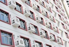 Wall with many air-conditioners Stock Image