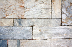 Wall of marble blocks Stock Photo