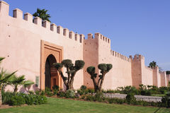 Wall of Marrakesh. The famous wall of Marrakesh, Morocco Royalty Free Stock Photography