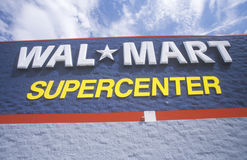 Wall Mart Supercenter in AR where prices are cheap Stock Photography