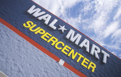 Wall Mart Supercenter in AR where prices are cheap Stock Images