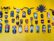 Wall of Masks Stock Photography