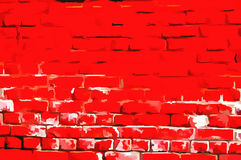 Wall masonry art Russian Red style Royalty Free Stock Image