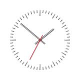 Wall mechanical clock. Stock Photo