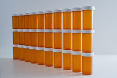 Wall of Medicine Bottles Stock Photos