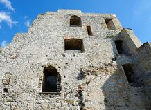 Wall of medieval Celje castle in Slovenia Royalty Free Stock Images