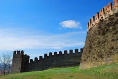 Wall of the medieval lock. Stock Photography