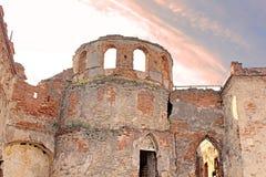 Wall of Medzhybizh castle, Ukraine Royalty Free Stock Images