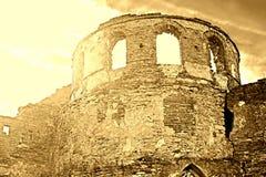Wall of Medzhybizh castle, Ukraine Stock Photos