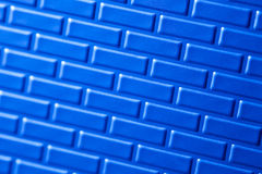 Wall of metallic bricks Royalty Free Stock Image