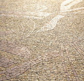 wall milan  in    the    abstract  background  mosaic stone Royalty Free Stock Images