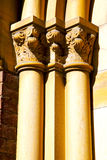 Wall milan  in italy old   church concrete doric Royalty Free Stock Photography