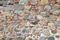 Stones and bricks wall stock images