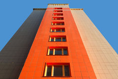 Wall of modern apartment house Stock Images