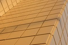 Wall of modern building. Wall of modern office building, gold color Royalty Free Stock Images