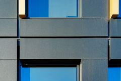Wall of modern corporate business office building. Concept stock photography