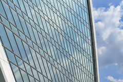 Wall of modern office building from glass and metal Royalty Free Stock Photography