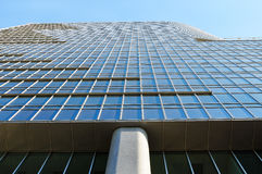 Wall of modern office building from glass and metal. Royalty Free Stock Photo