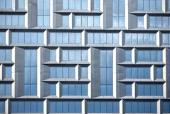 Wall of modern office building of glass and metal in techno style Royalty Free Stock Photography