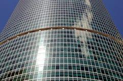 Wall of a modern skyscraper with windows on a facade Stock Photos