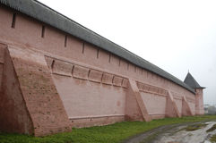 Wall of monastery. The wall of  St. Euthymius monastery in Suzdal, Russia Stock Photo