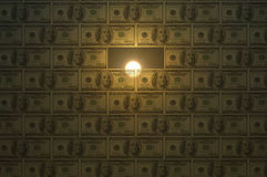 Wall of money. Stock Photography