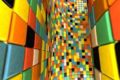 Wall of mosaic Royalty Free Stock Photography