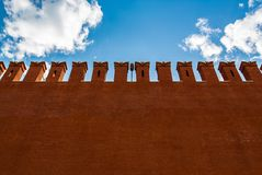 Wall of the Moscow Kremlin with space for text Stock Image