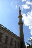 Wall of Mosque and minaret Stock Photo