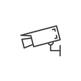 Wall mount camera line icon, outline vector sign Royalty Free Stock Photos