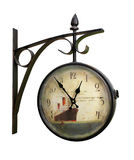 Wall mounted clock Royalty Free Stock Images