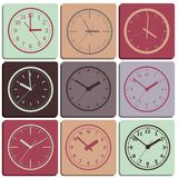 Wall mounted digital clock. Royalty Free Stock Photos