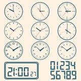 Wall mounted digital clock. Royalty Free Stock Photography